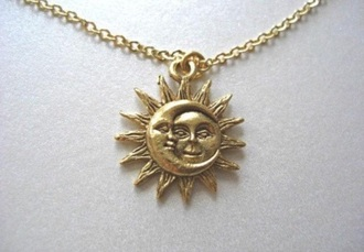 jewels moon sun sun necklace moon sun necklace sun moon necklace necklace gold moon necklace sun and moon collar