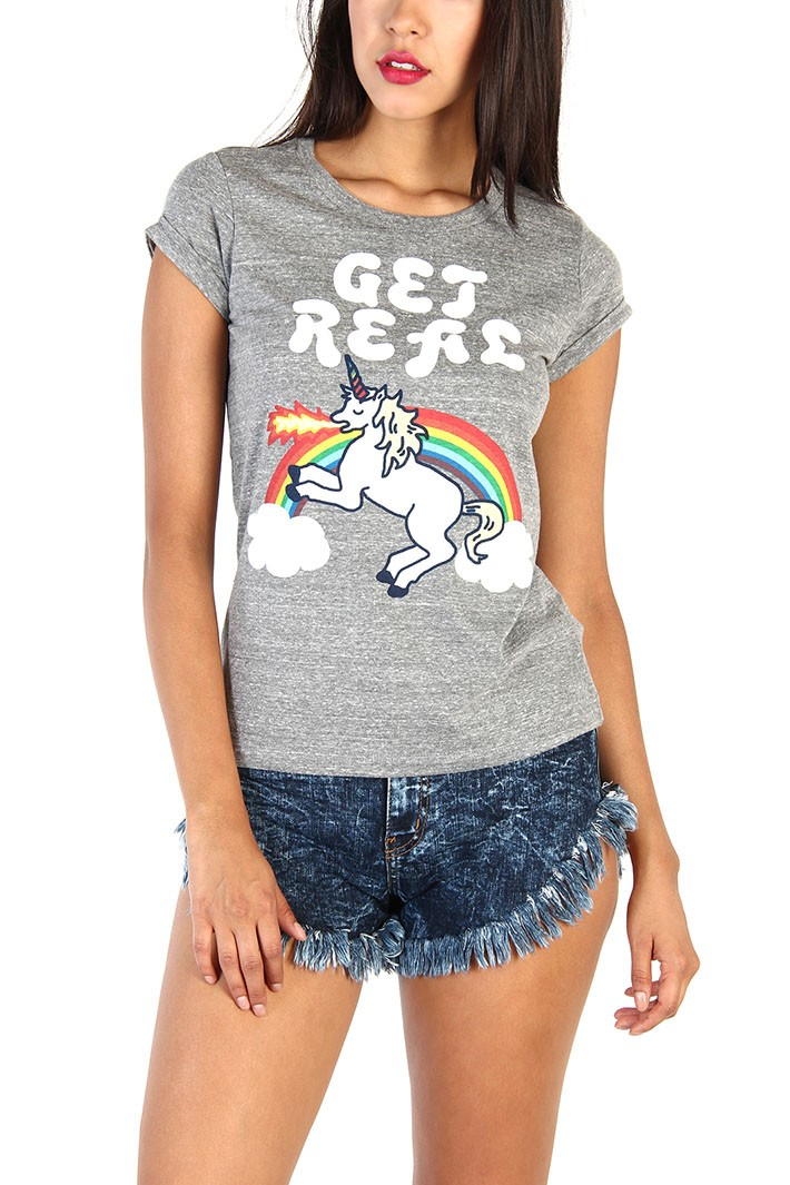 Get real unicorn printed top