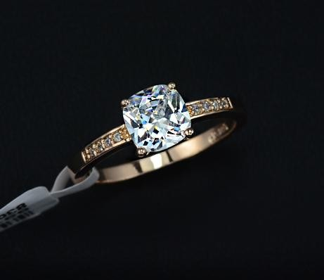 Square cut engagement ring by mir