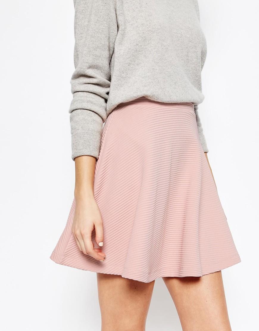 ASOS Skater Skirt in Texture at asos.com