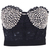 ROMWE | Rivet Lace Black Bandeau, The Latest Street Fashion