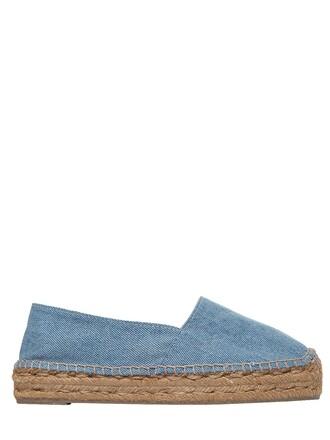 denim espadrilles cotton blue shoes
