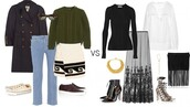 a portable package,blogger,outfit,cable knit,olive green,fringed bag,boho,sunglasses,jeans,sweater,skirt,coat,shoes,bag,jewels,blouse