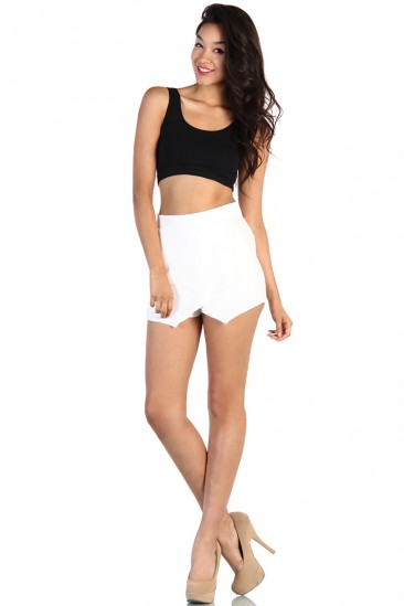 LoveMelrose.com From Harry & Molly | Zara Skort - White