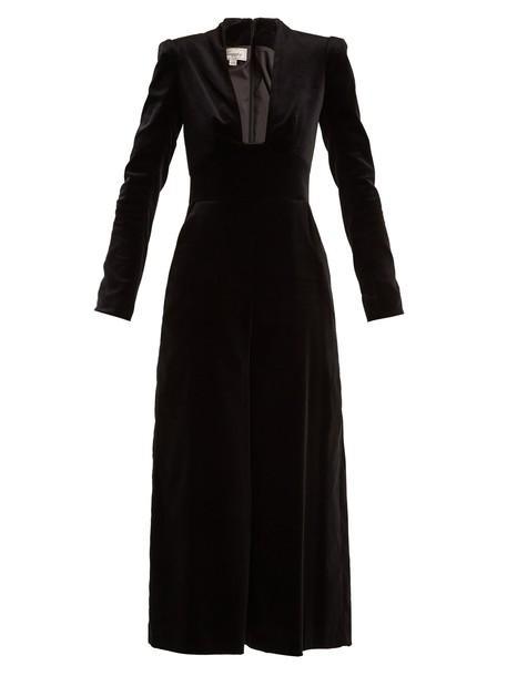 jumpsuit cotton velvet black
