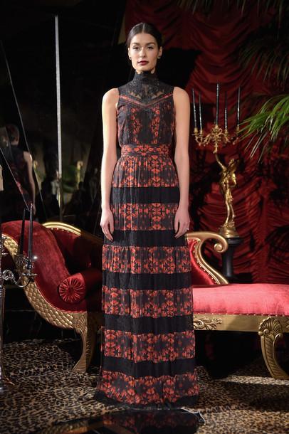 dress maxi dress fashion week 2015