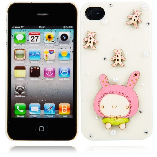 phone cover cartoon doll style protective hard back cover case iphone iphone 4/4s milky ww87008230