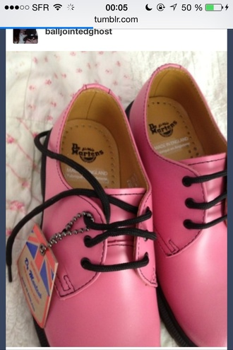shoes dr martens pink low