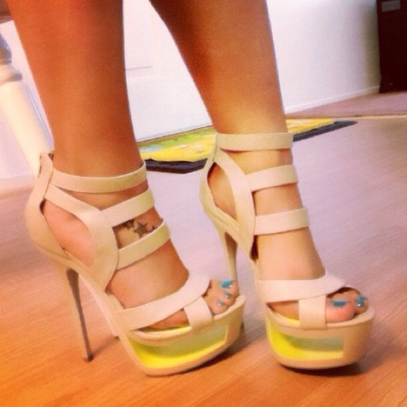 shoes platform shoes high heels cute strappy heels