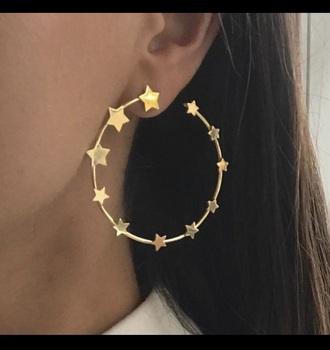 jewels hoop earrings stars gold hoopearrings
