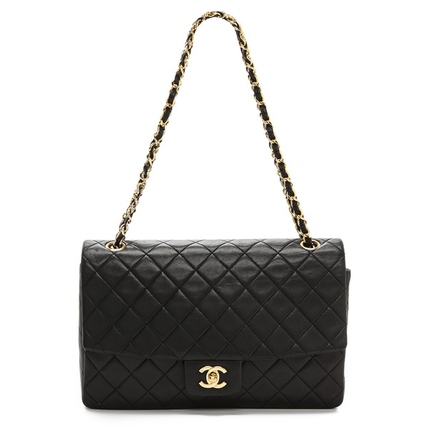 WGACA Vintage Vintage Chanel Black Quilted Half Flap Bag - Polyvore