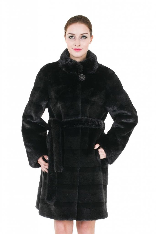Adelaqueen women's fluffy mink faux fur coat outerwear with faux fur belt black at amazon women's coats shop