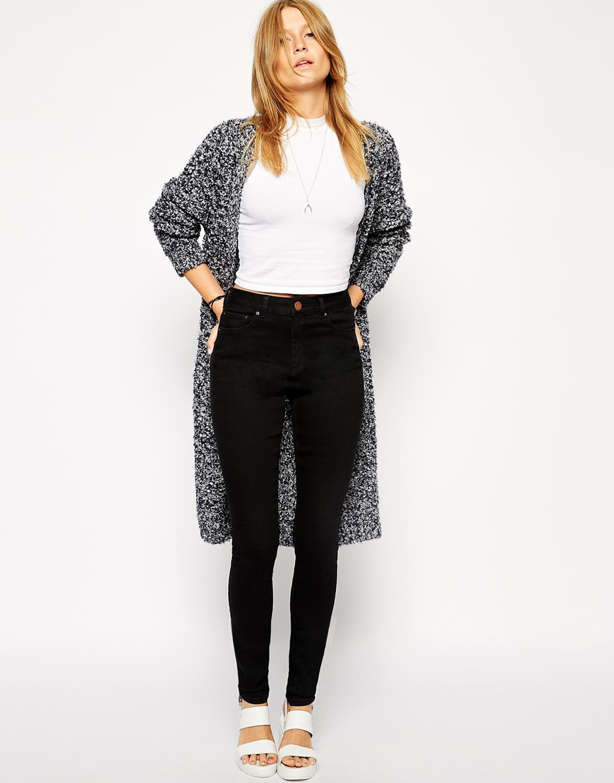Asos ridley skinny jeans in clean black at asos.com