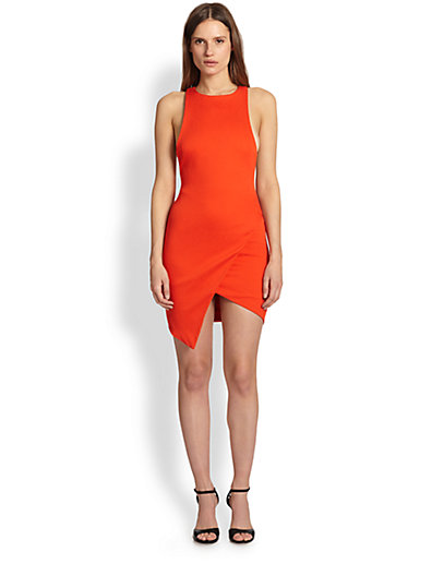 Bec & Bridge - Isis Asymmetrical Wrap-Effect Body-Con Dress - Saks.com