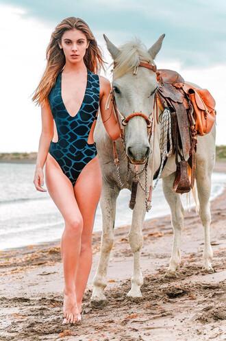 swimwear one piece swimsuit one piece print revel rey