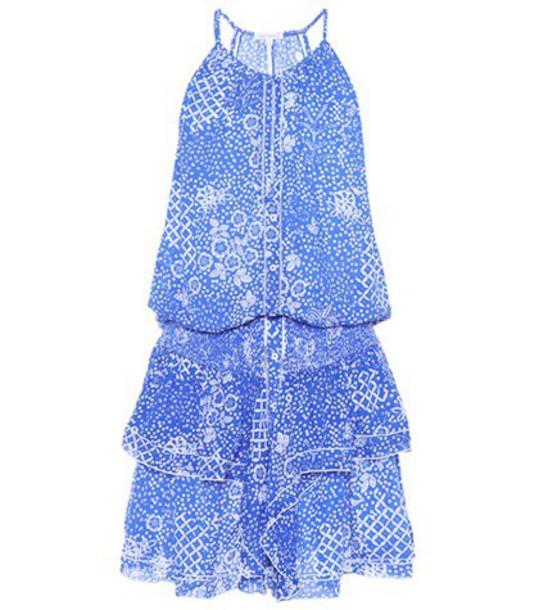Poupette St Barth dress printed dress blue