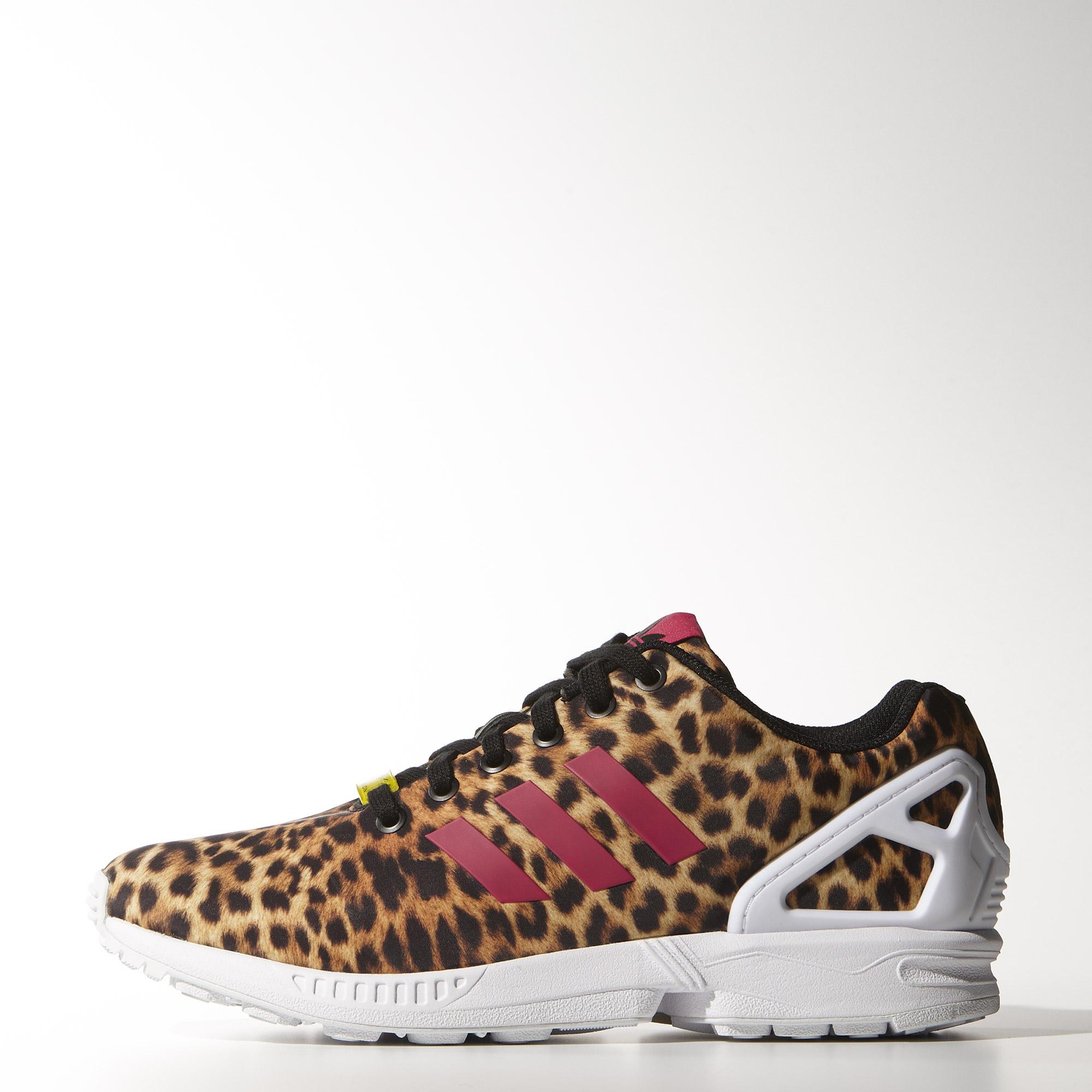 zx flux adidas leopardate
