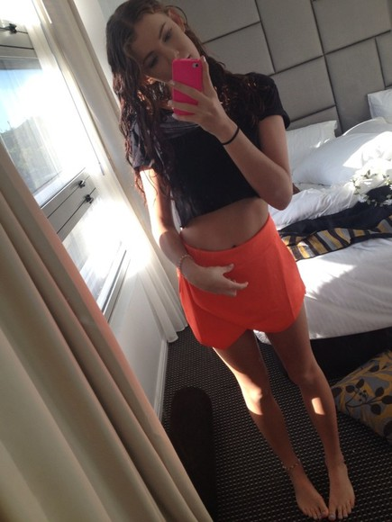 shorts orange shorts fluro orange skort orange skort