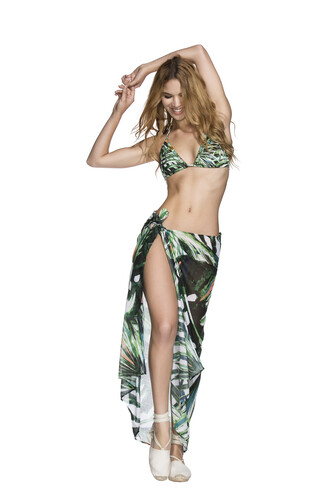 skirt agua bendita bottoms cover up print bikiniluxe