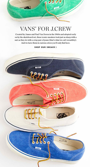 shoes vans authentic j crew summer shoes
