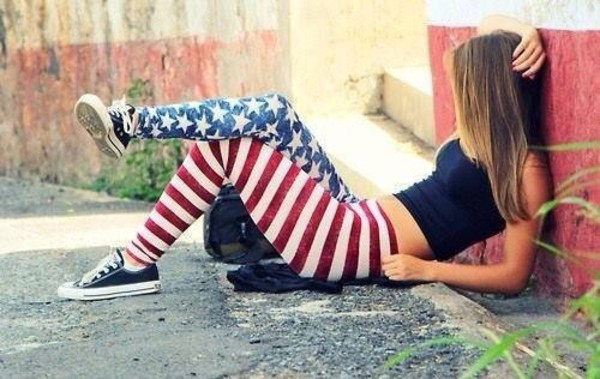 pants shirt american flag leggings
