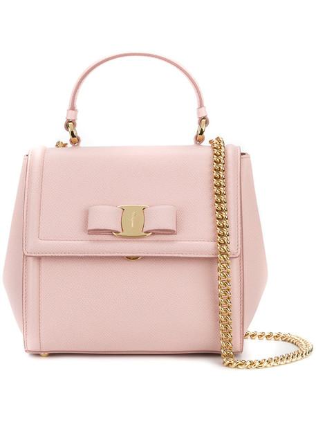 Salvatore Ferragamo - Carrie top handle bag - women - Calf Leather - One Size, Pink/Purple, Calf Leather