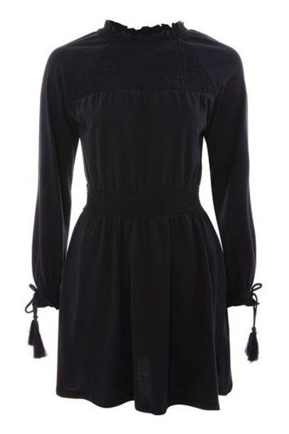 dress smock dress navy blue