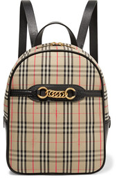 embellished,backpack,leather,cotton,beige,bag