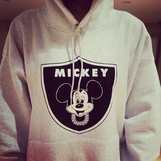 sweater mickey mouse grey gray grey mickey hoodie oversized sweater winter sweater jumper funny sweaters hoodie grey sweater