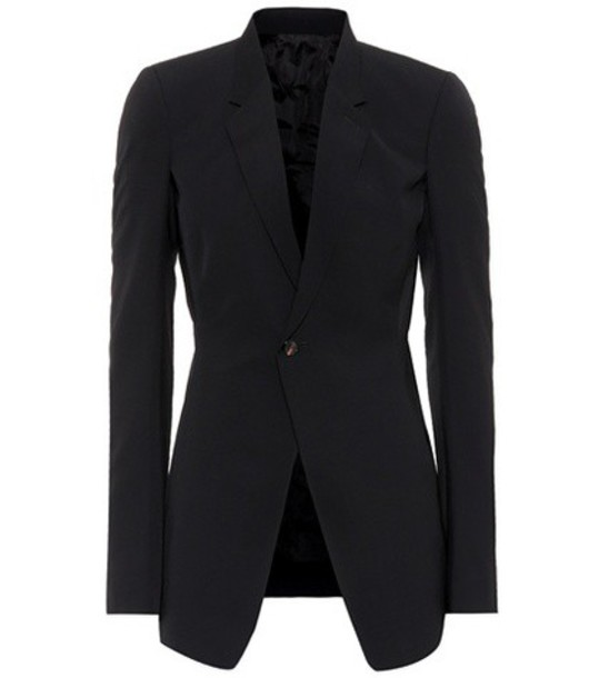 Rick Owens blazer soft wool black jacket