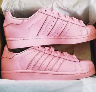 shoes all pink adidas