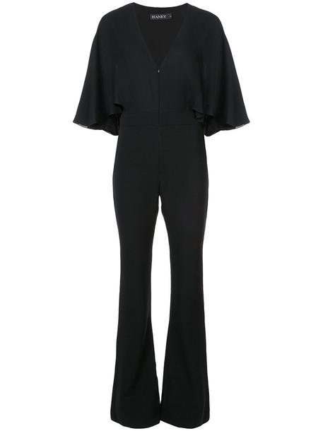 Haney jumpsuit women spandex black silk