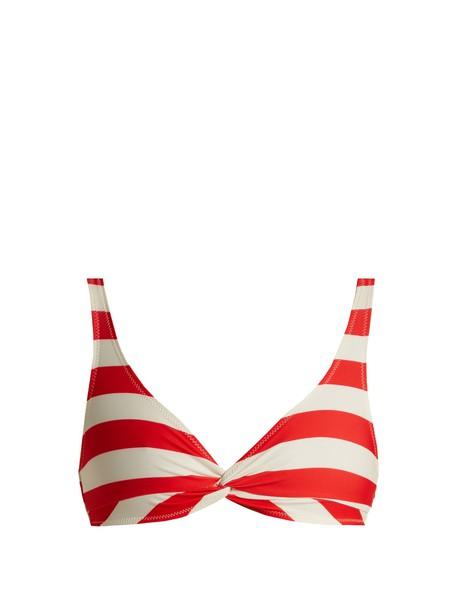 bikini striped bikini bikini top red swimwear