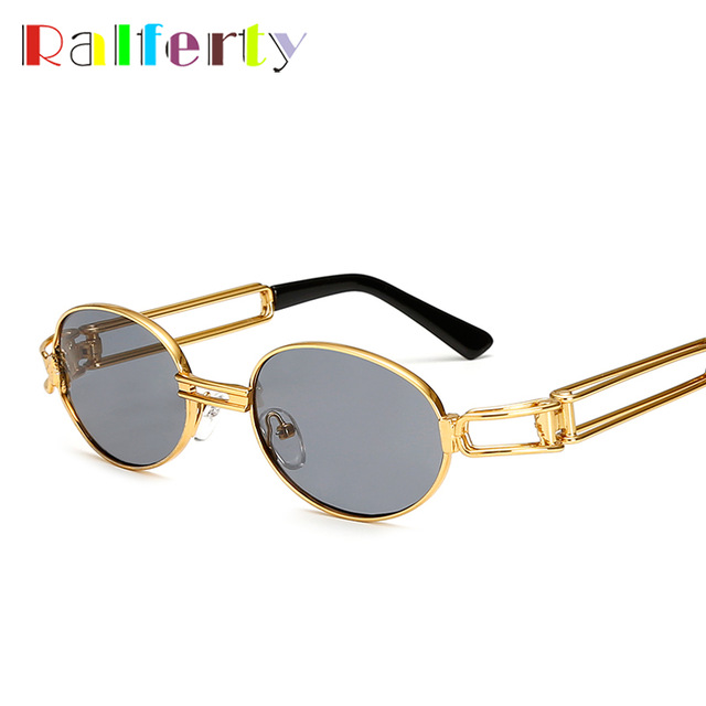 Ralferty Vintage Glasses Eyewear Frame Hop Round Sunglasses Steampunk Men Retro Oculo In Uv400 Gold From Small Women 2017 Hip eQrxBoWdC