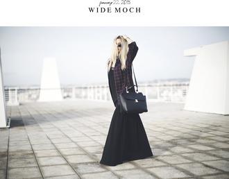 room91 blogger maxi skirt satchel bag