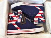shoes,sneakers,american flag,blue,white,red,supra,stripes,stars,where can i get these shoes?