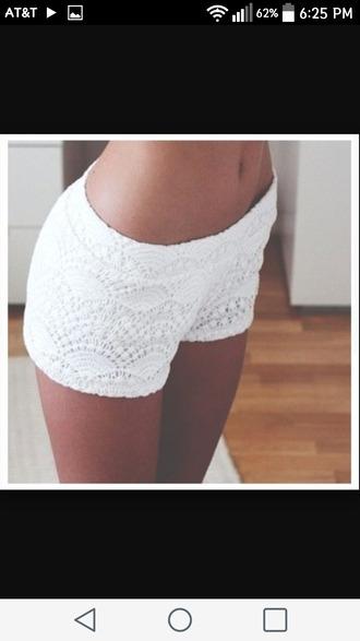 shorts cute adorable lace lace shorts lace top white white shorts cute outfits cute shorts