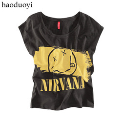 Neck cotton formal appliques dobby shipping nirvana smiley letter t