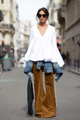 le fashion image blogger sunglasses top jacket pants