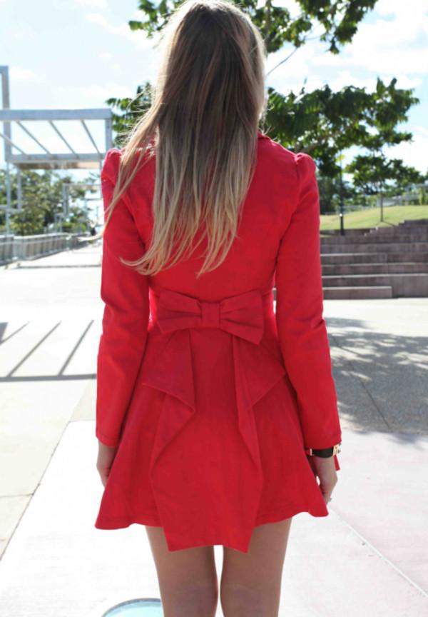 dress ustrendy dress ustrendy red jacket bowback jacket bow back jacket