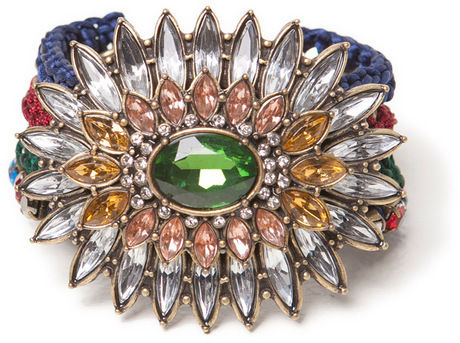 ZARA BROOCH MULTICOLOUR BRACELETS WITH CRYSTALS REALLY GORGEOUS   eBay