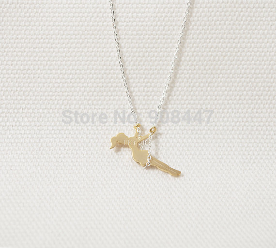 1 Piece 2014 Fashion hotting sale 18K Gold/Rose Gold/Silver Tiny young Girl Swing Necklace for women Free shipping over $10-in Pendant Necklaces from Jewelry on Aliexpress.com