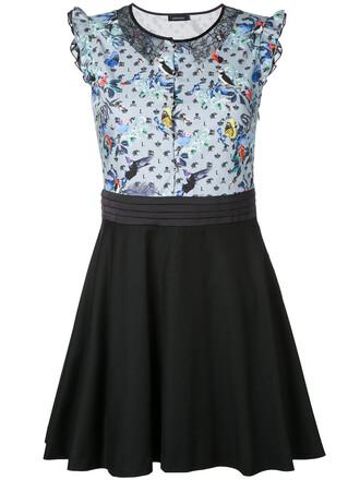 dress print dress women lace cotton print blue