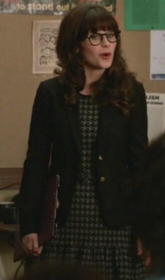 dress blazer belt zooey deschanel jess day new girl jacket