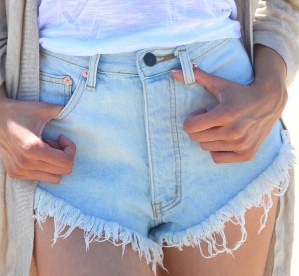 light blue acid wash denim shorts denim cut off shorts