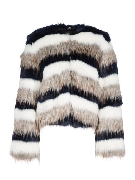jacket fur jacket fur multicolor
