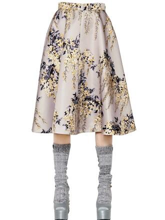 skirt midi skirt midi floral pearl grey