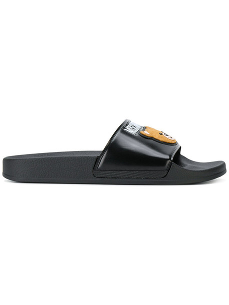 Moschino bear women black shoes