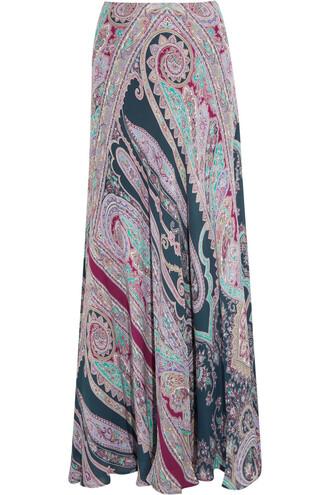 skirt maxi skirt maxi silk purple