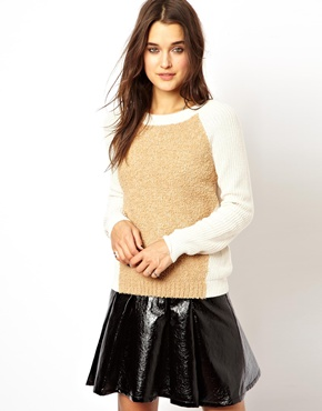 ASOS | ASOS Jumper With Faux Fur Front at ASOS